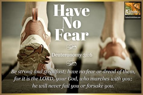Deuteronomy 31 6 Catholic Bible Verse