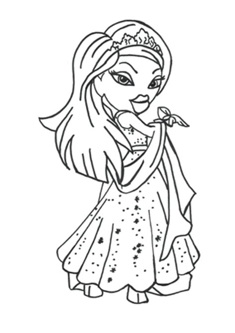 Coloring Pages by Free Printable Bratz Coloring Pages For