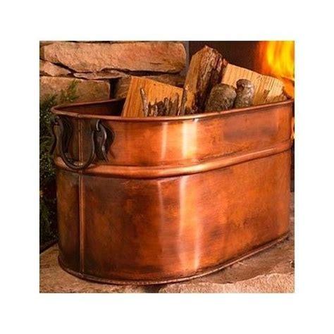 wood holder for inside fireplace copper firewood tub wood holder for fireplace cast iron 1940