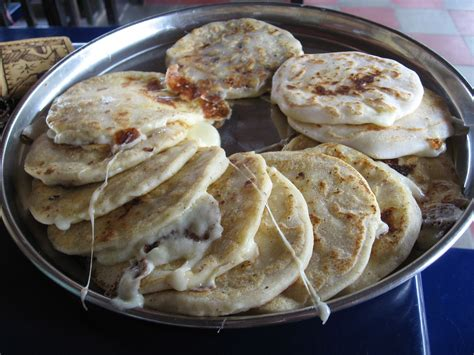 traditional salvadorean food pupusas mouth watering