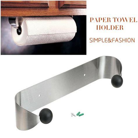paper towel holder  cabinet wall mount stainless steel rack kitchen   walmartcom
