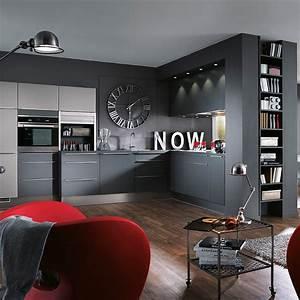 cuisine grise marie claire maison With idee deco cuisine avec cuisine laquée gris clair