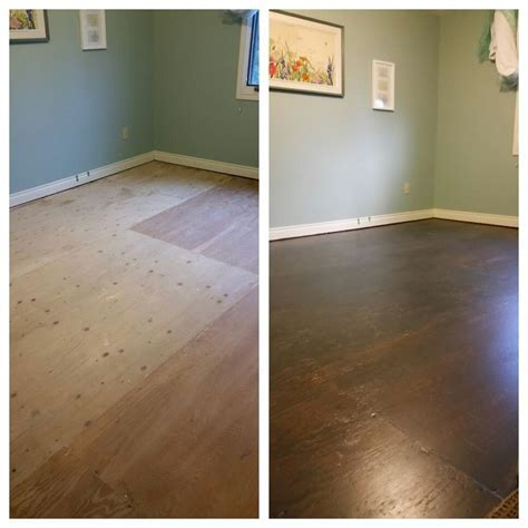 Stained Plywood Houses Flooring Picture Ideas   Blogule
