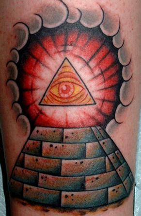 Forearm Tattoo With Triangle