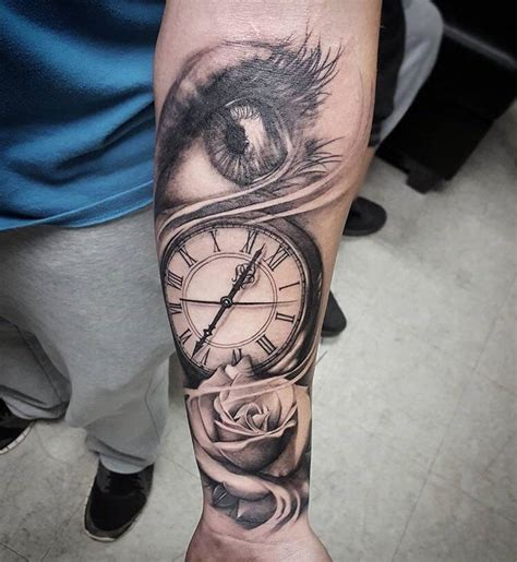 eye clock rose   months  today tattoo