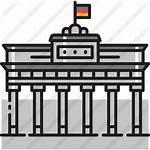 Berlin Wall Icon Icons Gate Brandenburg Germany