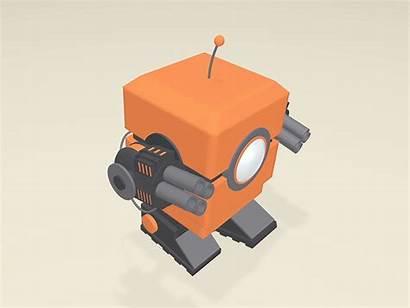 Robot Simple Nerf Walk Loop Dribbble Cinema