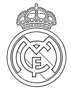 Real Madrid logo coloring page | Real madrid cake, Real