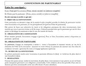 modèle lettre de partenariat commercial mod 232 le de contrat de partenariat ou de sponsoring
