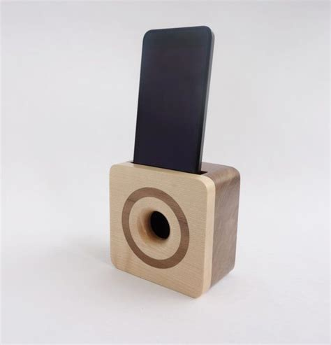wooden iphone speaker iphone 6 acoustic speaker box made from walnut wood