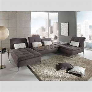 canape d39angle marron design canape modulable pas cher With canapé cuir contemporain design