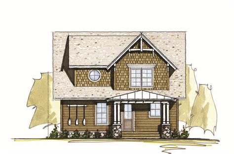 Three Bedroom Vacation Home Plan 18764CK Architectural
