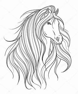 Pferdekopf Schwarz Weiß : pferdekopf in linie kunststil tattoo kunst isoliertes element schwarz wei handgezeichneten ~ Watch28wear.com Haus und Dekorationen