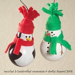 Creative Ideas - DIY Light Bulb Christmas Ornaments