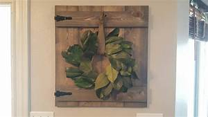 Rustic barn door wall hanging wreath hanger decor great