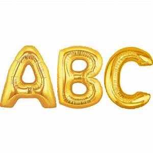 balloon foil letter large gold foil balloons With big gold letter balloons