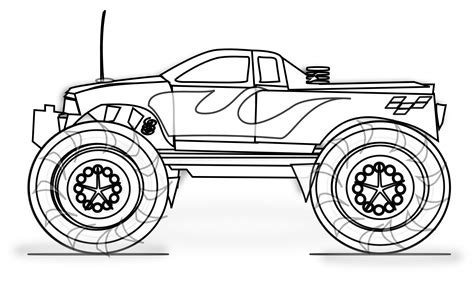 printable monster truck coloring pages  kids