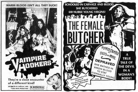 Horror Movie Newspaper Adverts of the 1960s 70s   Flashbak