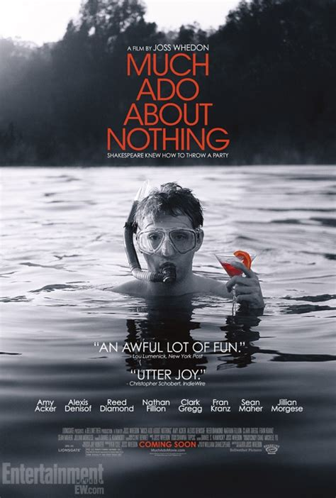 new poster for joss whedon s much ado about nothing equals