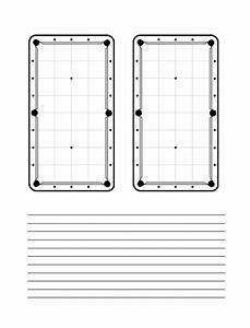 I Need A Small Black And White Diagram For A Pool Table