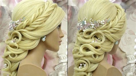 Prom Wedding Hairstyle For Long Hair. Tutorial
