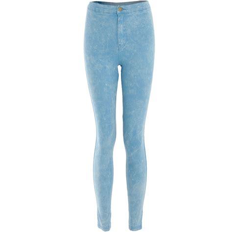 light wash high waisted skinny jeans womens light acid wash skinny fit high waist denim stretch