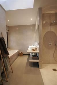 salle de bain beton cire atelier luc germain idees With beton cire salle de bain