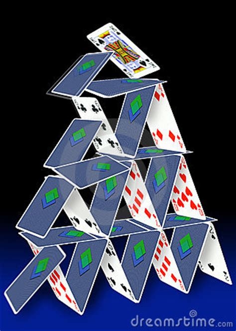 card tower royalty  stock  image