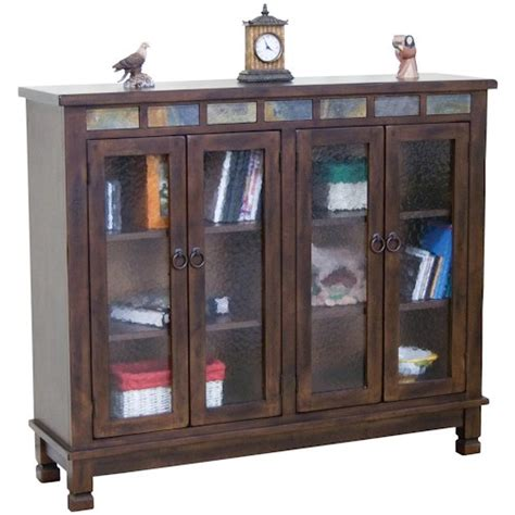 Closed Bookcases by Designs Santa Fe Traditional 4 Door Closed Bookcase