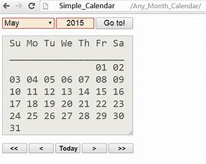 Html Kalender Code : simple calendar using html javascript free source code tutorials and articles ~ Markanthonyermac.com Haus und Dekorationen