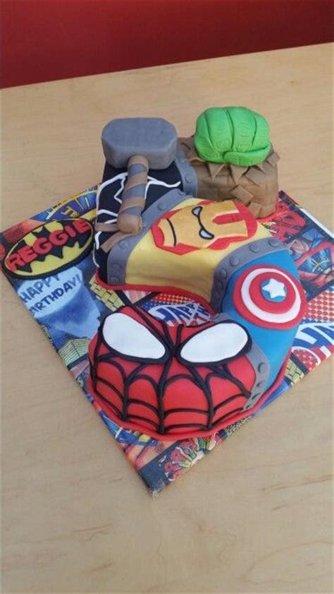 marvel superhero number  birthday cake cake marvel