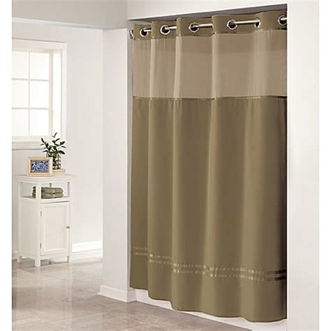 hookless shower curtains hookless escape shower curtain bed bath beyond