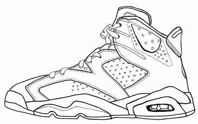 Jordan Drawing Sketch Line Jordans Drawings Air