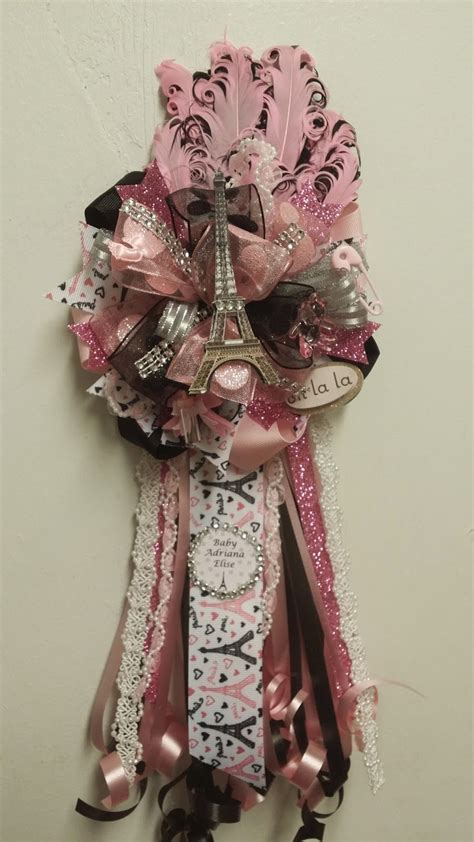 adrianas creations girl theme baby shower corsages