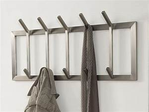 Design Garderobe Edelstahl : wandgarderobe edelstahl flurgarderobe 5 haken matt ~ Michelbontemps.com Haus und Dekorationen