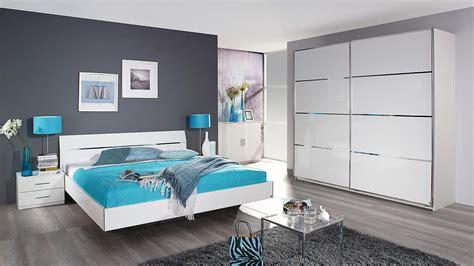 Schlafzimmer Set Starnberg Bett Schrank Weiß Hochglanz