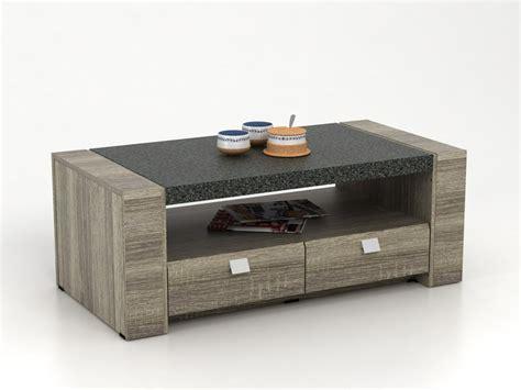 bureau informatique en verre table basse meteorite 2 tiroirs mdf plateau effet granite