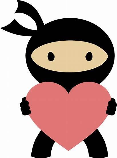 Ninja Clipart Clip Female Valentine Valentines Birthday