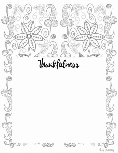 Gratitude Journal Template Coloring Printable Templates Journals