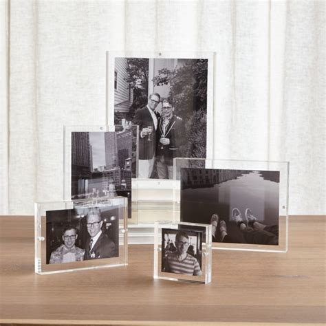 Acrylic Block Picture Frames   Crate and Barrel
