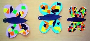 Schmetterlinge Aus Tonpapier Basteln : schmetterlinge aus papierschnipseln tiere basteln meine enkel und ich ~ Orissabook.com Haus und Dekorationen
