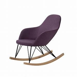 Rocking Chair Tissu : rocking chair malibu violet achetez nos rocking chair malibu violet rdv d co ~ Teatrodelosmanantiales.com Idées de Décoration