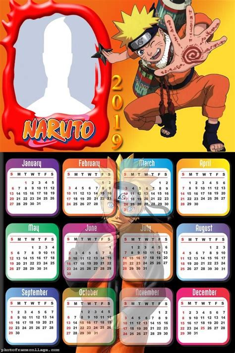 naruto calendar  frame photo montage