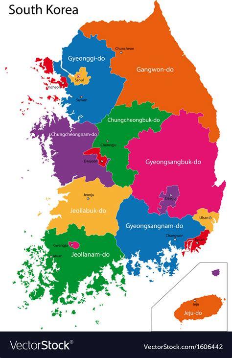 south korea map royalty  vector image vectorstock