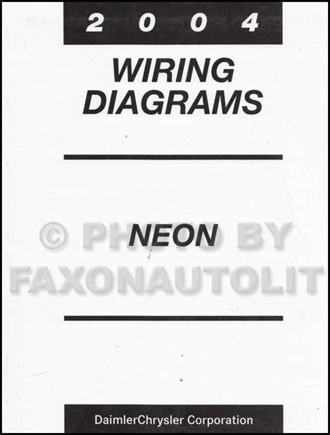 Dodge Neon Headlight Wiring Diagram by 2004 Dodge Neon Wiring Diagram Manual Original