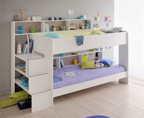 Kid Bed by Parisot Bebop White Bunk Bed