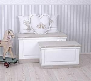 Shabby Chic Truhe : zwei truhen kisten shabby chic truhe sitztruhe weiss w schetruhe truhenbank ebay ~ Sanjose-hotels-ca.com Haus und Dekorationen