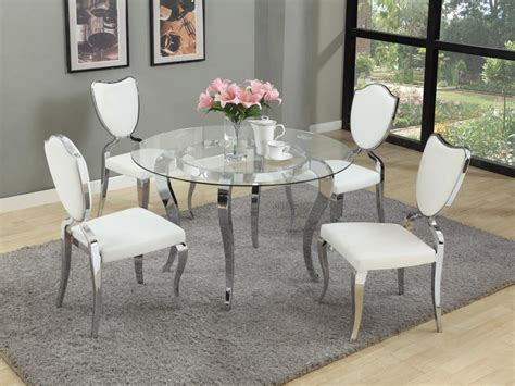 european circle kitchen table refined glass top dining room furniture dinette