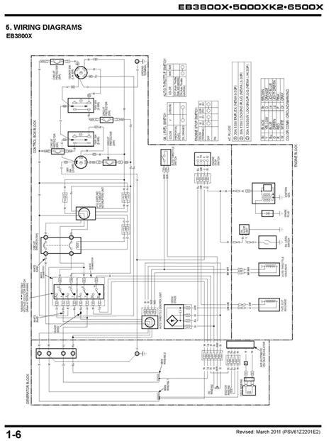 eb3800x eb5000xk2 eb6500x generator shop manual honda power products support publications