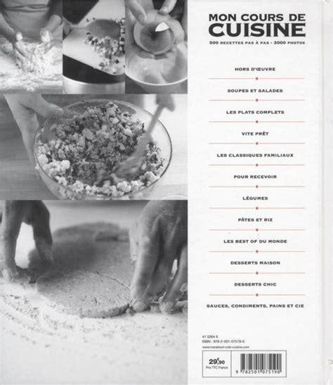 livre mon cours de cuisine livre mon cours de cuisine collectif